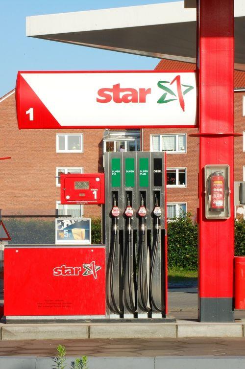 petrol stations red traffic