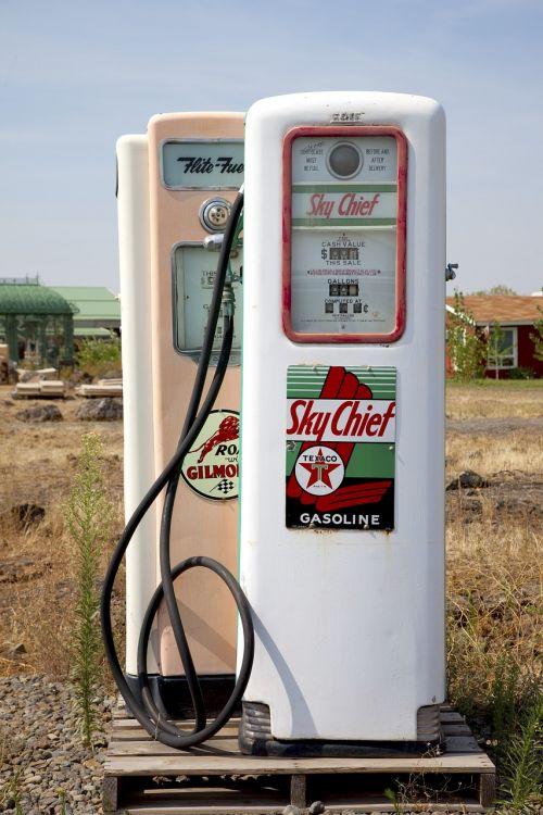 petrol stations antique gas pump