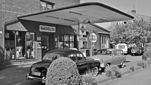 petrol stations oldtimer old gas station