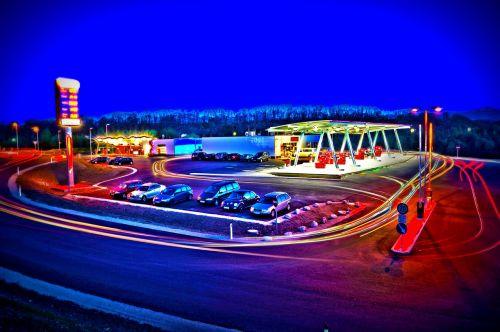 petrol stations sureal hdr