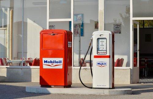 petrol stations  gas pump  historically
