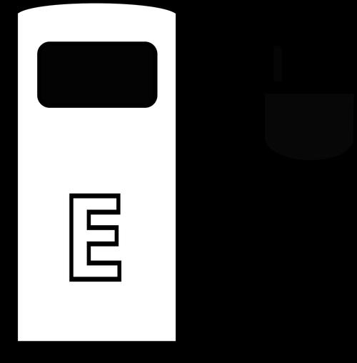 petrol stations  symbol  e car