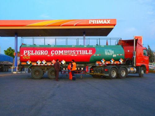 petrol stations truck vehicle
