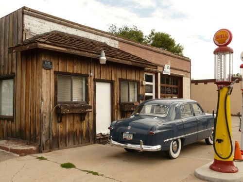 petrol stations auto oldtimer