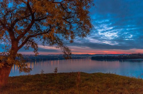 petrovaradin serbia sunset