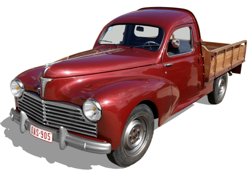 peugeot 203,truck,pick-up,old,transport,historically,automotive,auto,vintage car automobile,vintage car mobile,vehicle,vintage car,oldtimer,rarity,france,peugeot,nostalgic,exempted and edited,classic,nostalgia,old car,retro,pkw,red,transporter