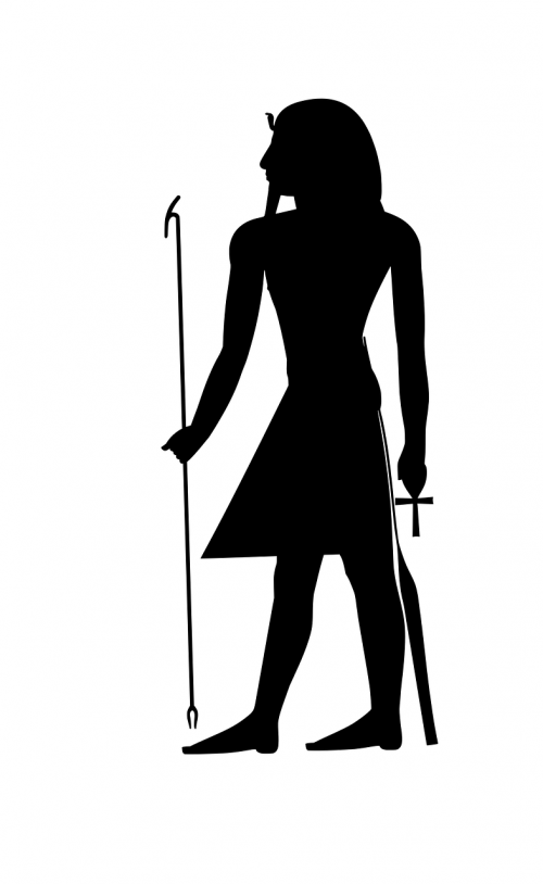 pharaonic silhouette stand
