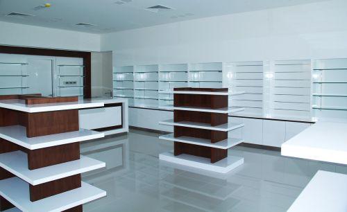 pharmacy shelving design