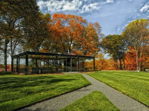 philip johnson glass house home landmark