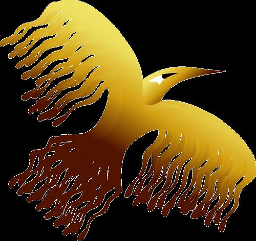 phoenix,paukštis,dekoratyvinis,legenda,istorija,pakilti,auksinis,nemokama vektorinė grafika
