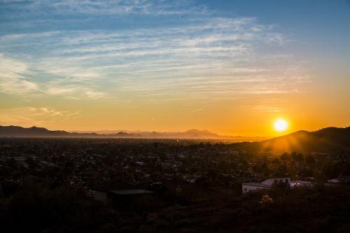 phoenix az sunset desert