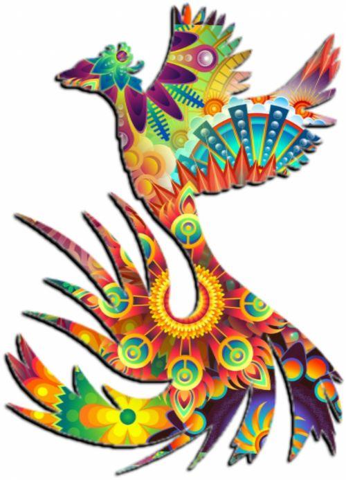 Phoenix Style Colourful
