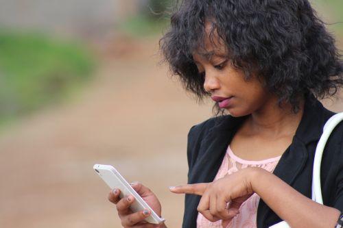 phone female lady