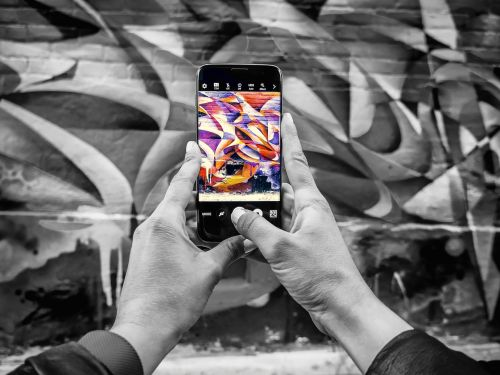 phone smartphone street art
