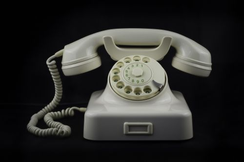 phone receiver talk