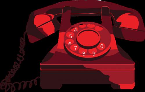 phone red vintage