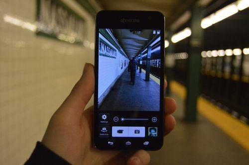 phone iconic subway