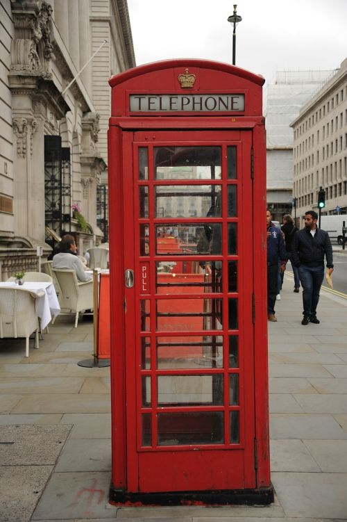 phone booth red telephone box england