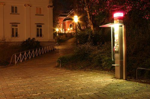 phone booth night long exposure