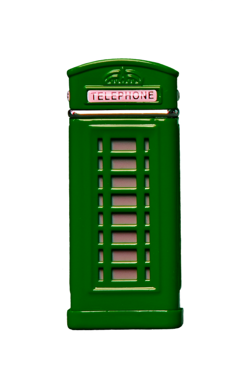phone booth green phone