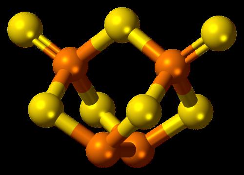 phosphorus sulfide molecule model
