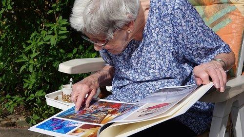 photo album  granny  happy