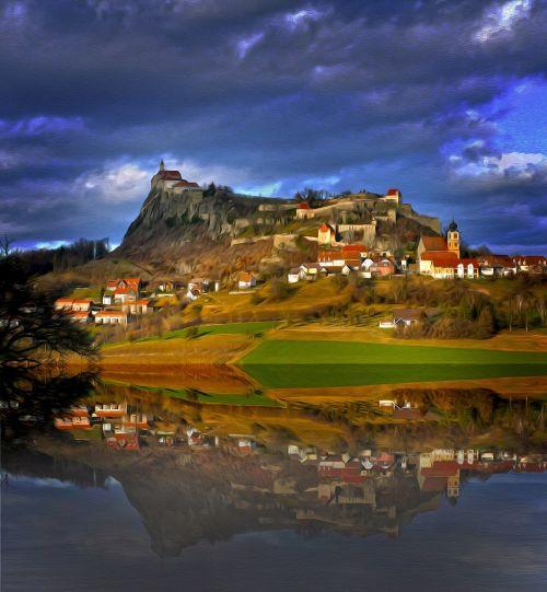 photo art castle landscape