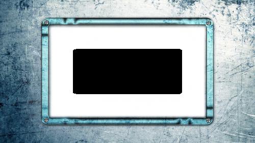photo frame blue metal