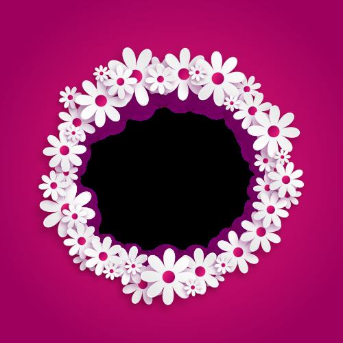 photo frame transparent background flowers