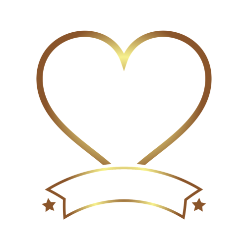 photo frame gold heart
