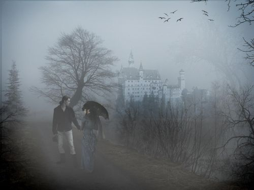 photo manipulation photo montage fog