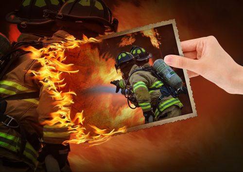 photo montage fire training