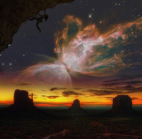 photo montage  hide  nebula