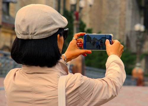 photograph  woman  smartphone