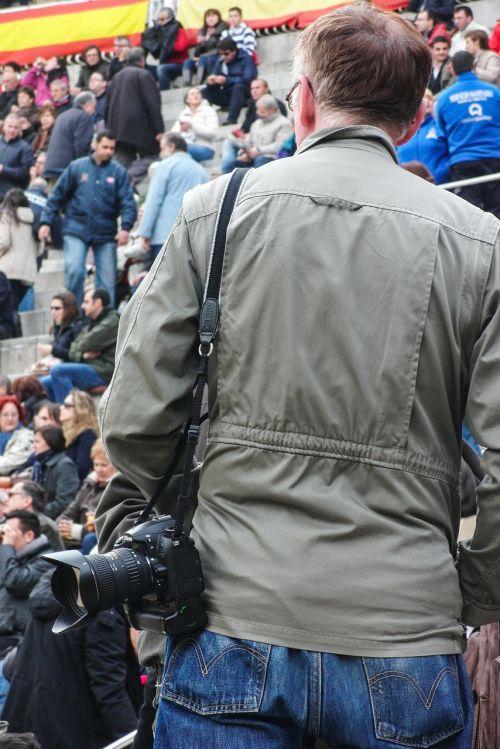 photographer camera crowd