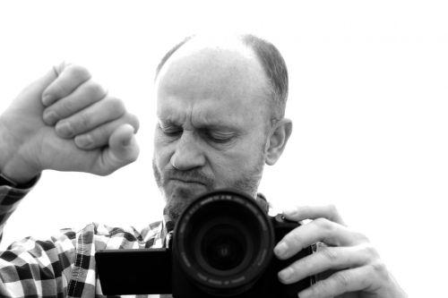 photographer man hand
