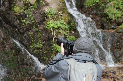 Fotografas,gamta,kaskados,žiema,kalnas