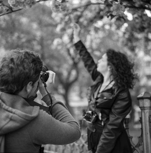 photographer girl taking photos