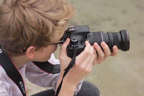 photographer camera human