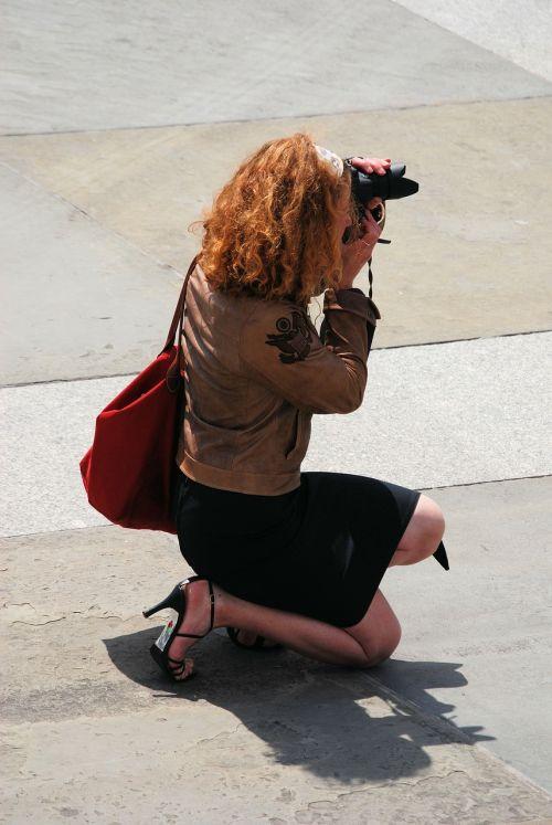 photographer camera woman