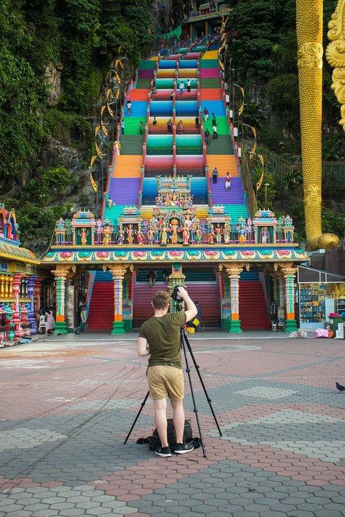 photographer  batu caves  colorful