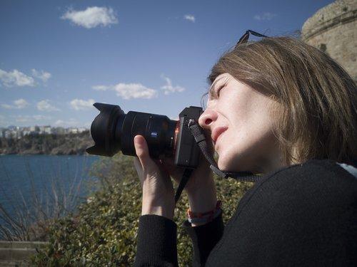 photographer  machine  woman