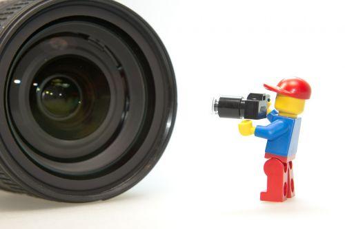 photographer lens lego