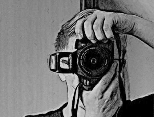 photographer drawing photo