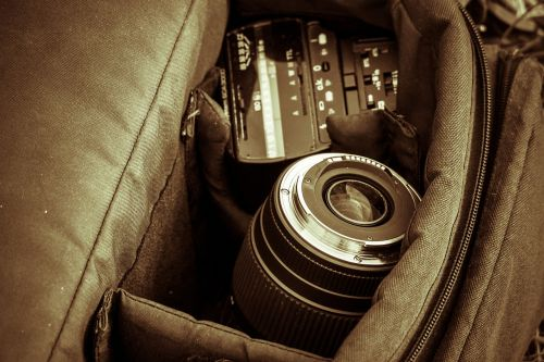 photographic equipment lens photo bag