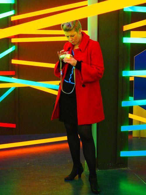 photography neon light camera