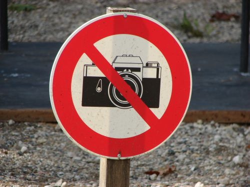 photography prohibited sign
