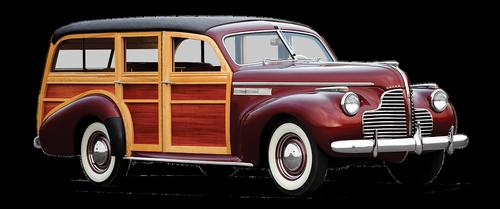 photomontage  buick  station wagon-station wagon