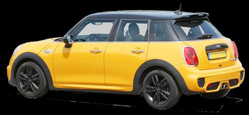 photomontage  auto  mini cooper