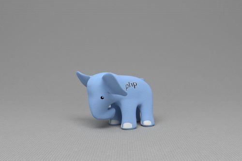 php elephant blue elephant